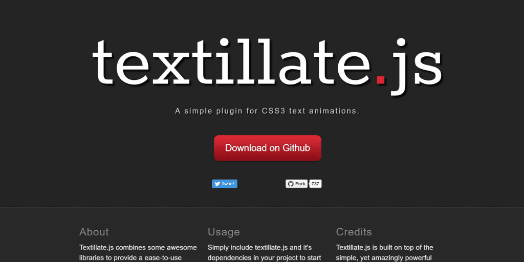 "10 instant codes that can implement text animation in HTML using ""textillate.js"""